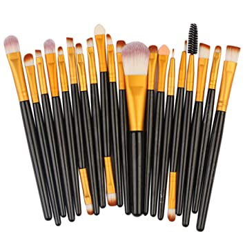 Amazon.com: (20 Pack) Makeup Brushes Kits for Women, Iuhan 20 Pcs Makeup Brush Set Professional Face Eye Shadow Eyeliner Foundation Blush (Multicolor): ...
