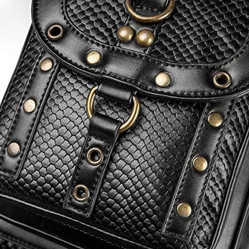 Ysswjzz Messenger Bag, Steampunk retro axelväska diagonal bältesväska för arbete i skolan business travel
