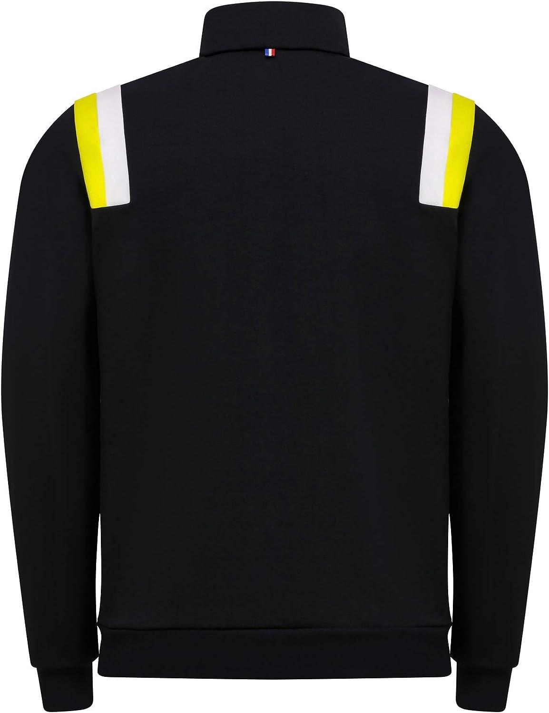 le coq Sportif Renault F1 Mens Fan Full Zip Sweatshirt Black