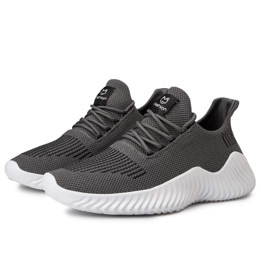 Mens Running Shoes Casual Lightweight Slip On Sneakers for Men Cross Training Athletic Gym Tennis Sports Walking Shoe (US:7, Gray)