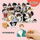QUIETTER Kawaii Kpop BTS Bangtan Boys Stickers For Luggage Cup Notebook Laptop Car Fridge DIY Stickers (A286)