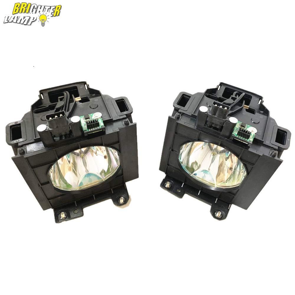 Brighter Lamp ET-LAD57W (2灯セット) ET-LAD57 プロジェクター交換用ランプ 【ハウジング付き/高輝度/長寿命】for Panasonicパナソニック  ET-LAD57W B075N7ZHQ9