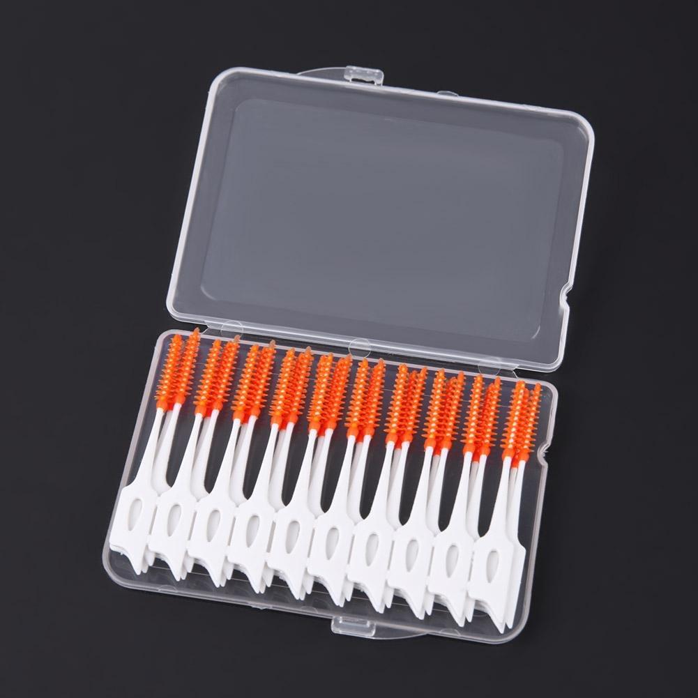 80 Piezas//Caja, Silicona, Dientes Suaves, Limpieza Dental, Cuidado bucal Gowind6 Cepillos interdentales