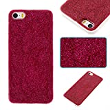 iphone 4 case new york - iPhone 5/5S/SE Case, Arukas Bling Glitter Sparkle Soft TPU Bumper iPhone 5/5S/SE Protective Case Shockproof Case Cover for iPhone 5/5C/SE (4.0 Inch) (red)