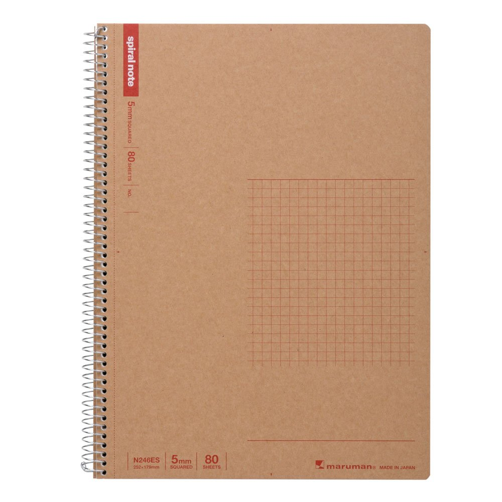 Maruman B5 spiral notebook grid ruled 80 sheets N246ES 5 volume set