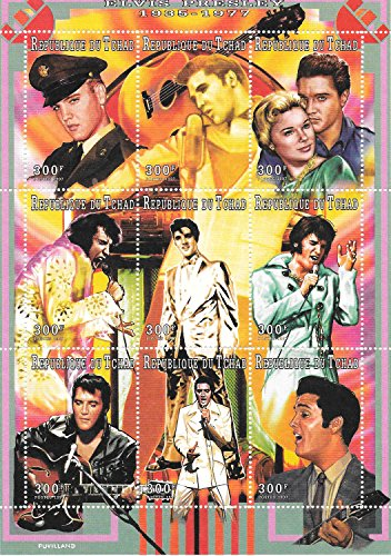 Stamps for Collectors - Elvis Presley The King of Rock Music MNH Souvenir Sheet / Chad / 1997