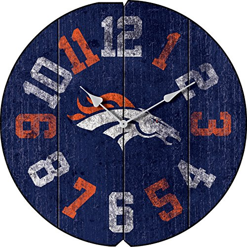 Imperial Officially Licensed NFL Merchandise: Vintage Round Clock, Denver Broncos