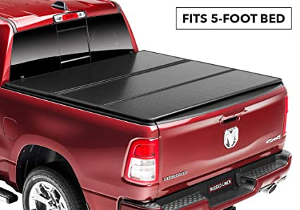 Toyota Tacoma Bed Cover >> Amazon Com Rugged Liner E Series Hard Folding Truck Bed Tonneau