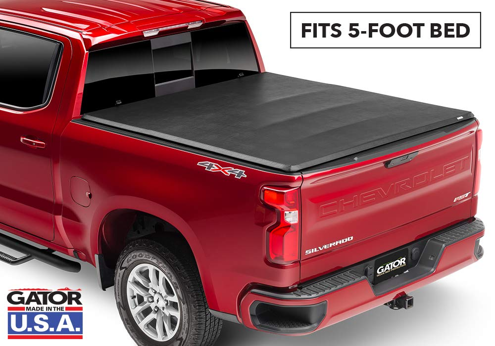 Gator ETX Soft Tri-Fold Truck Bed Tonneau Cover | 59112 | fits Chevy/GMC Canyon/Colorado 2015-19 (5 ft bed)