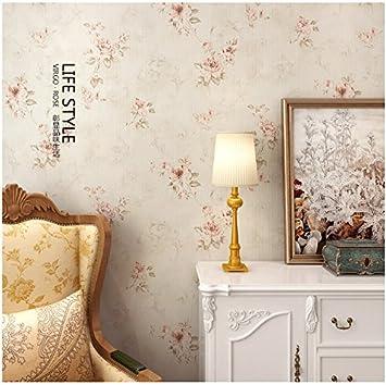 Yosot Warme Rosen Und Altes Schlafzimmer Tapete Beige Amazon De