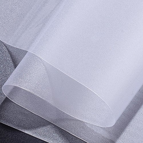 Opaque Vinyl - Generic Window Film Frosted Privacy Static Self-Adhesive Vinyl Cling Films For Glass Door, Home, Office, Bathroom, Living Room, Bedroom (35.4