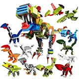 PG Dinosaurs T-Rex Toy Lego - Compatible,Mini Building Bricks Set 12 in 1,Dino Birthday Party Favors Supplies/Pinata/Educational Model for Kid Boys Girls