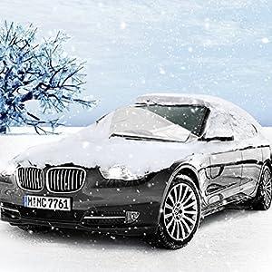 nieve viento y lluvia Plata v/álido para la ma mayor/ía de veh/ículos,160*118cm MTURE Cubierta de Parabrisas Coche Parabrisas ventana delantera Protector para Parabrisas protege de hielo