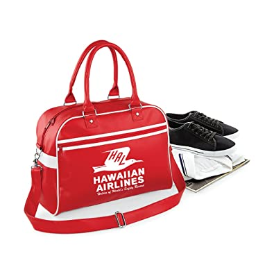 84f953e019 Luxury Retro Hawaiian Airlines Flight  Bowling Bag  Style Luggage Pan Am  Retro Flight Bag  Amazon.co.uk  Shoes   Bags