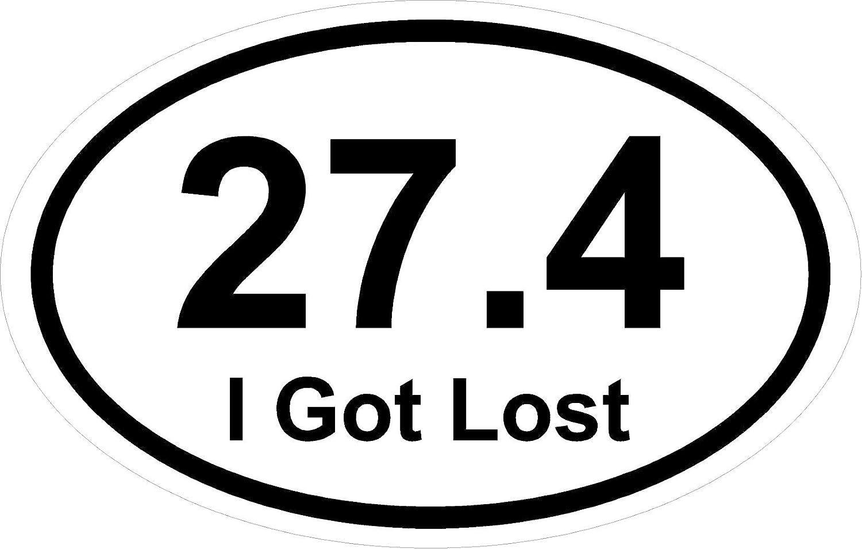 "*Magnet* 3.5"" x 5.5"" Oval 13.1 Marathon Run"