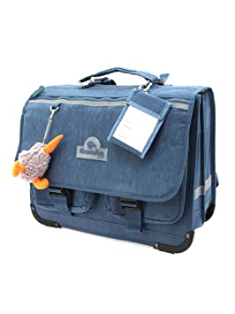 Kiwiwho Cartable 3 compartiments marine 43x35x18cm 2GqtwzR6