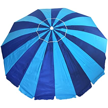 fdcb574b3ad3 Amazon.com : 8 ft. 20 Panel Jumbo Vented Fiberglass Beach Umbrella ...