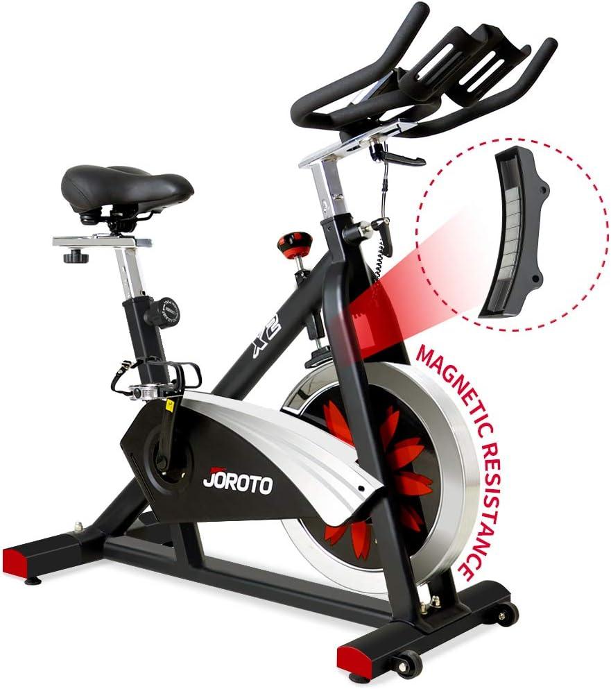 JOROTO Bicicleta de Ciclismo magnética para Interiores ...