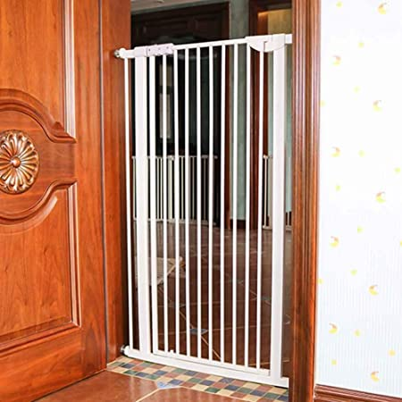 Barrera de seguridad Puerta para Gatos/Perros con Puerta Extra Alta Y Ancha Y Duradera, Puerta para Bebés De Metal A Presión para Casa/Escaleras/Puertas/Pasillos ...