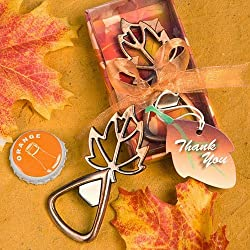 30 Autumn Magic Collection Leaf Design Bottle Openers