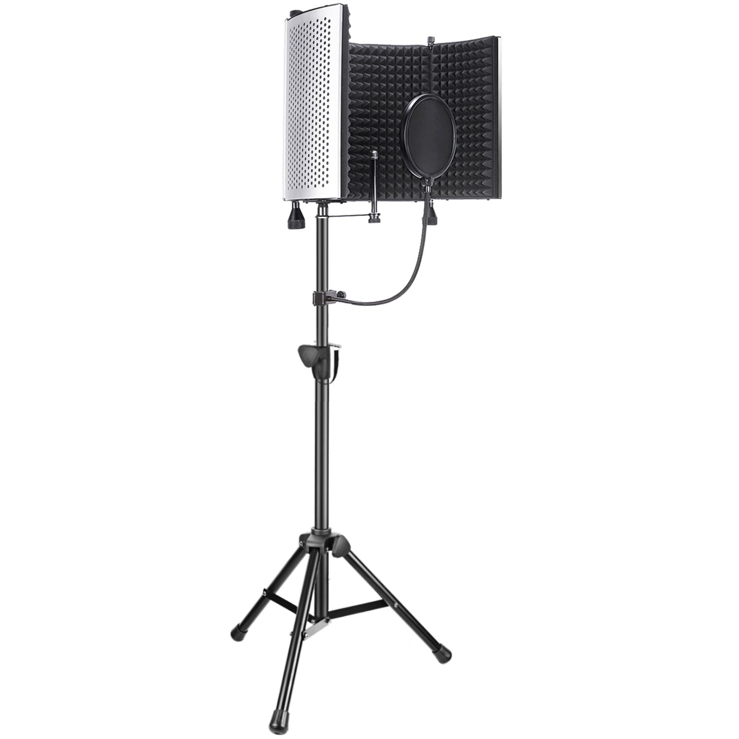 Neewer Professional Microphone Studio Recording Accessories Include: NW-5 Microphone Isolation Panel, Adjustable Wind Screen Bracket Stand and Pop Filter for Vocal Acoustic Recording and Podcasting