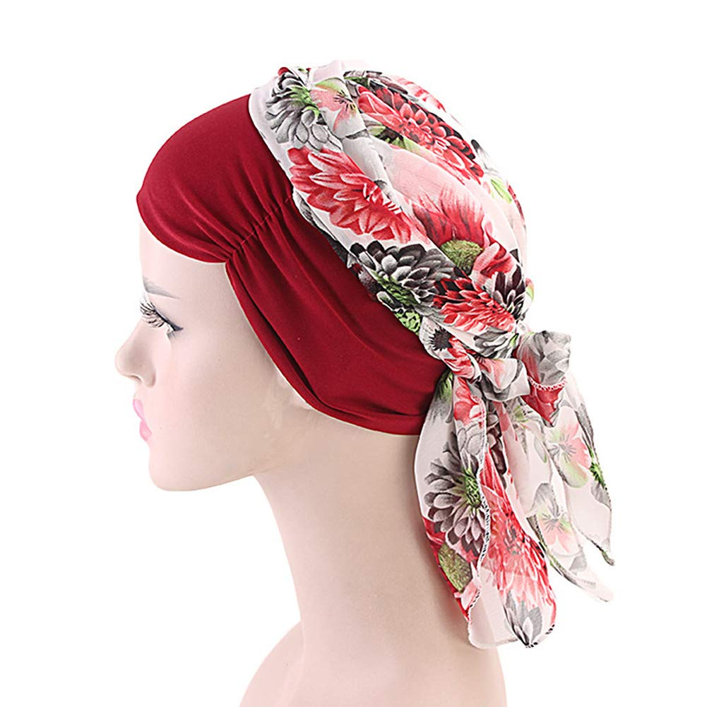 Xinqiao Elastic Headwrap Turban Head Scarf Headwear Bandana Tichel Cancer Hat