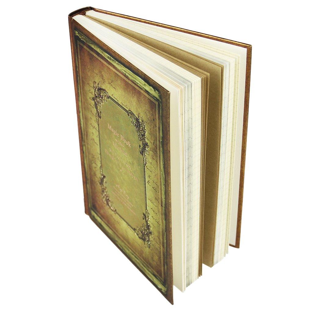 Journal intime code Carnet secret Bloc-Note Rétro Fourniture Scollaire Magic Book Agenda avec Page Coloré Journal en Cadenas à code pour Note portable Voyage Programme Projet du jour YJZQ