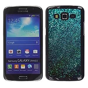 Be Good Phone Accessory // Dura Cáscara cubierta Protectora Caso Carcasa Funda de Protección para Samsung Galaxy Grand 2 SM-G7102 SM-G7105 // Teal Snow Winter Stars Abstract
