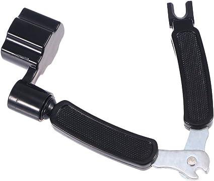 ROSENICE Guitar String Winder String 3 in 1 Multifunction Pin Puller Repair Tool(Black)