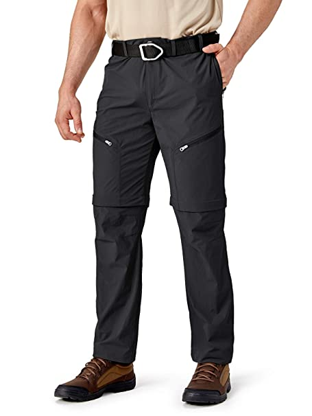 CARWORNIC Mens Outdoor Hiking Convertible Pants Lightweight Quick Dry Water Resistant Fishing Zip Off Cargo Pants