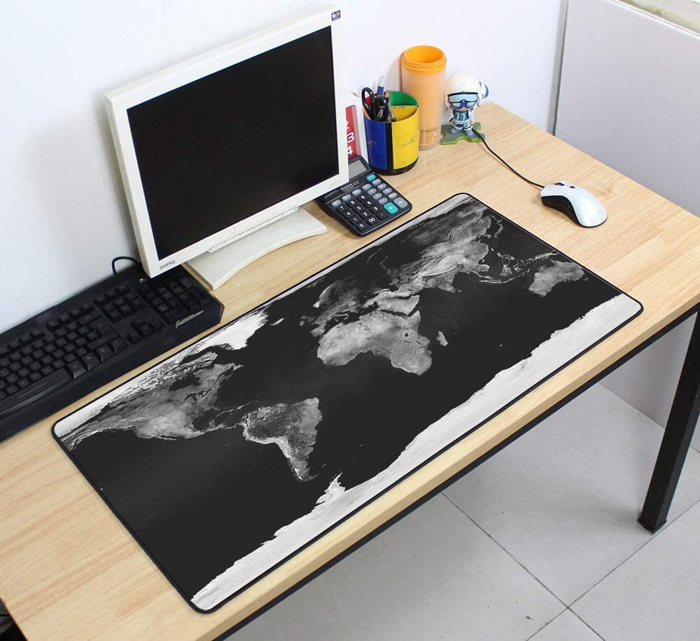 Color : Mat 10, Size : Size 800x400x3mm XJBHRB Massive Mouse Pad Gaming Mouse Pad World Map 700x400x2mm Large Mouse Pad Gamer with Edge Locked Office Desk Pad