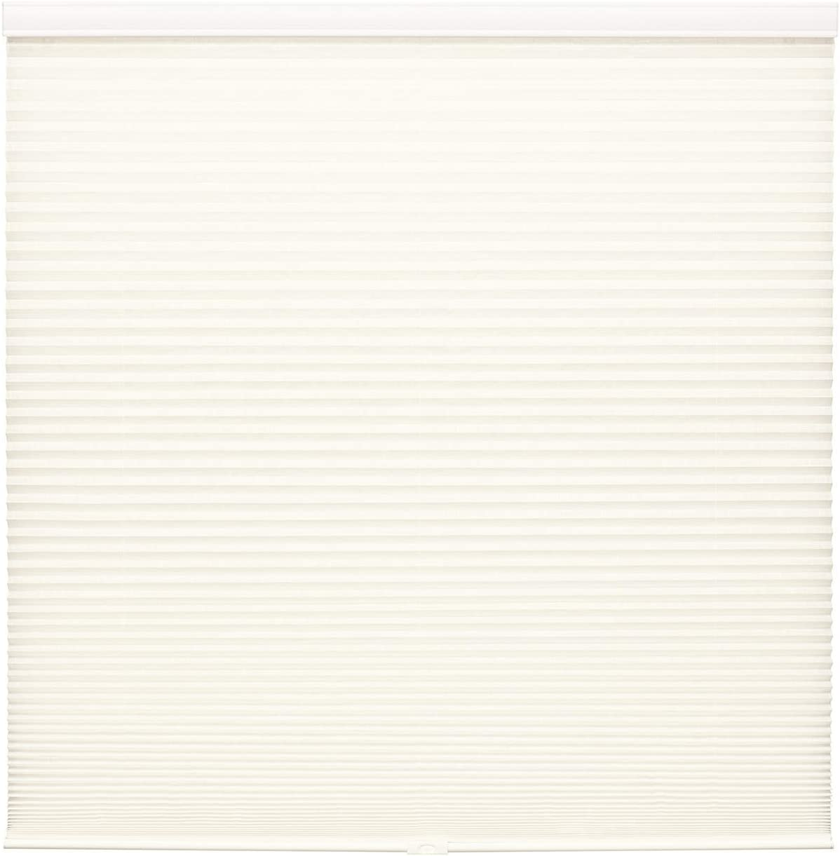 Cordless Textured Fabric Cellular Shade (White, 43 x 64)