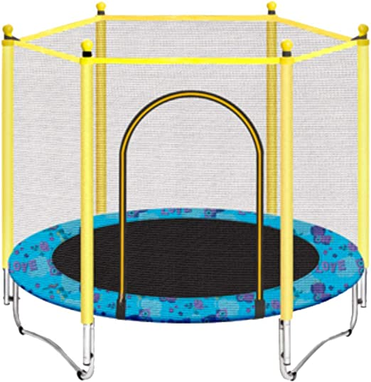 WYJ-Trampoline Casa para niños con Cama elástica, Interior y ...