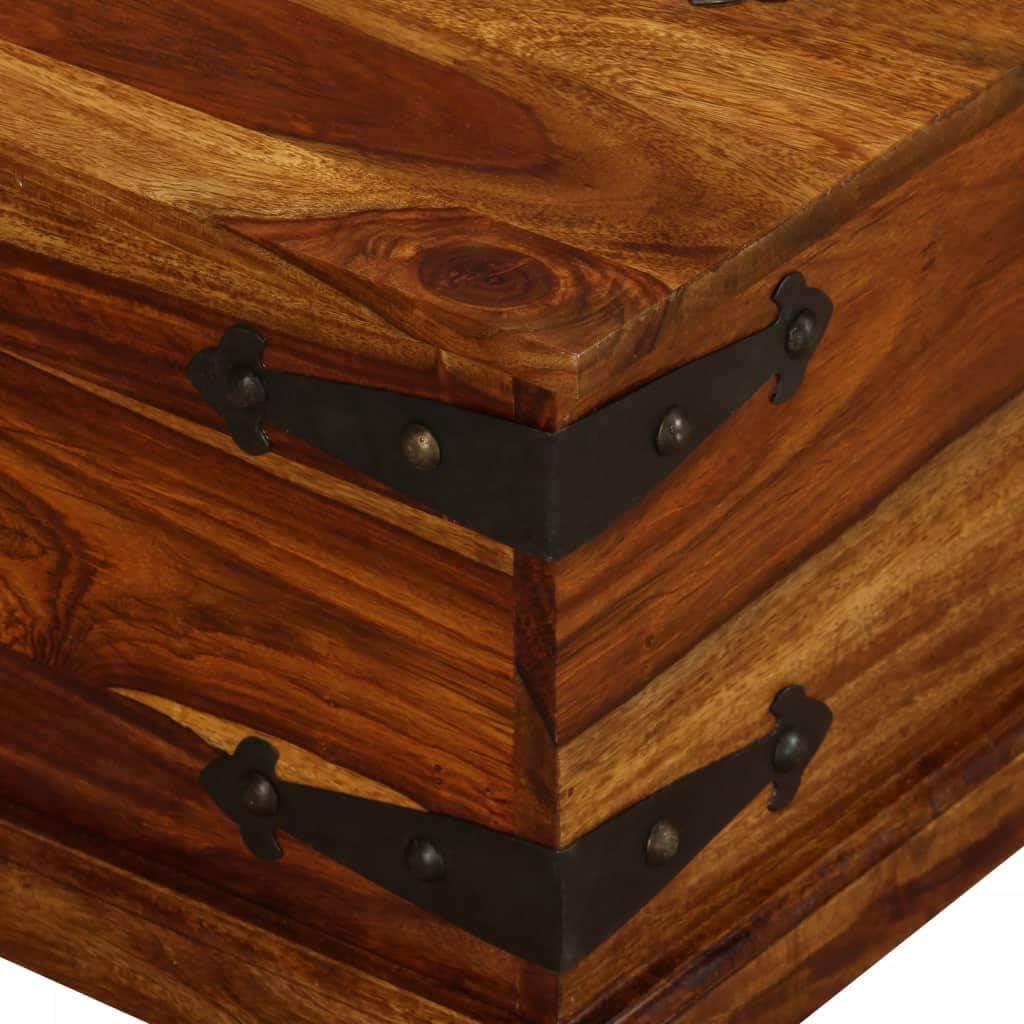 vidaXL Solid Sheesham Wood Storage Chest 90x50x35 cm Cabinet Box Indoor House