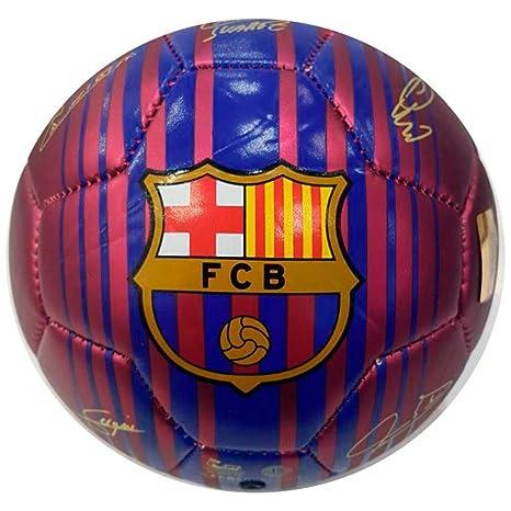 FC Barcelona - Balón mini de fútbol con firmas oficial de FC ...