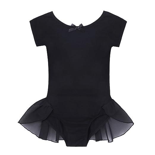 9b7f6f0c9c1d Amazon.com  iEFiEL Girls Cotton Cap Sleeves Ballet Dance Gymnastics ...