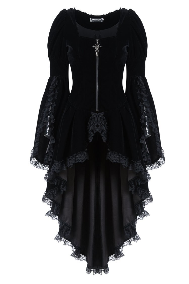 JW104 Gothic noble velvet pleated cocktail jacket by DARK IN LOVE