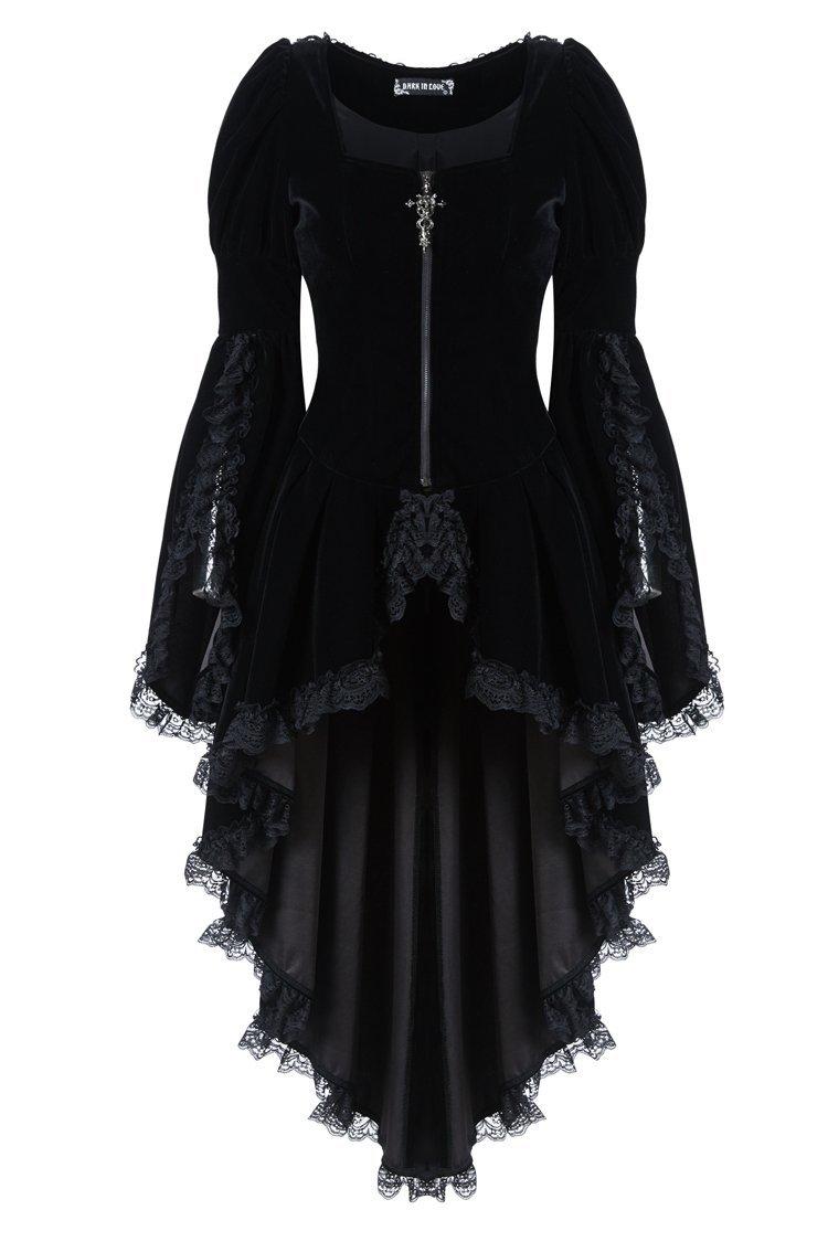 JW104 Gothic noble velvet pleated cocktail jacket