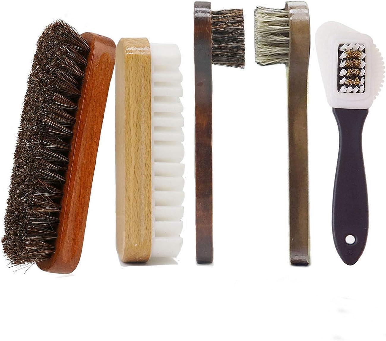 AlgaMarina Juego de Cepillos para Zapatos Limpiador de Zapatos Multifuncional para Limpieza y Cuidado de Zapatos, Botas, Asientos de Coche y Mueble de Piel