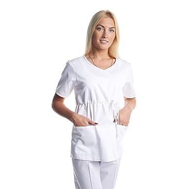 Vest Albus Bata Casaca Laboratorio Sanitario Ropa de Trabajo (XS)