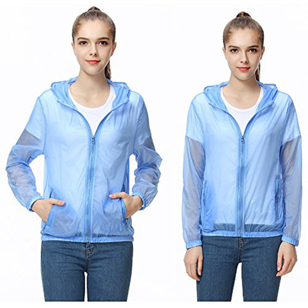 bluee Andy Pansy Lightweight Waterproof Jacket Quick Dry Skin Coat Outdoor Cycling Running Sport