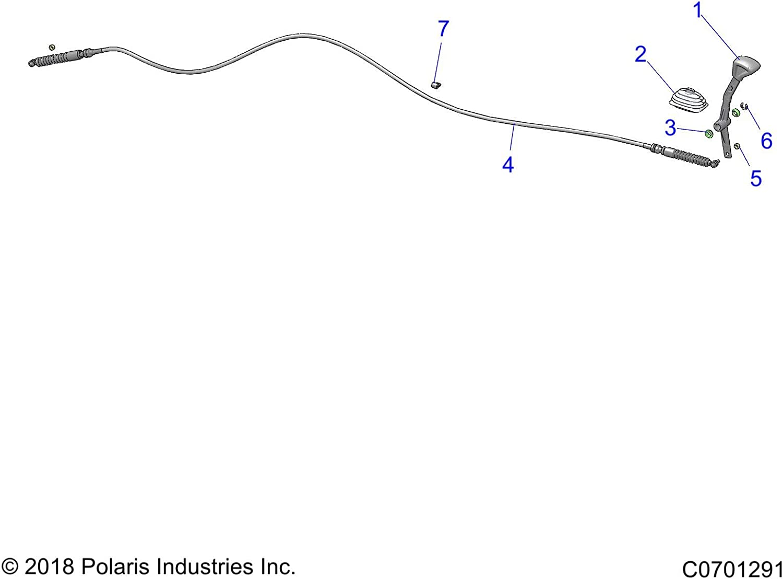 Matte Black Polaris Shift Lever Genuine OEM Part 5633455-458