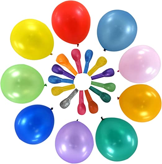 Pack of 10 Assorted Colour Retirement Latex Balloons