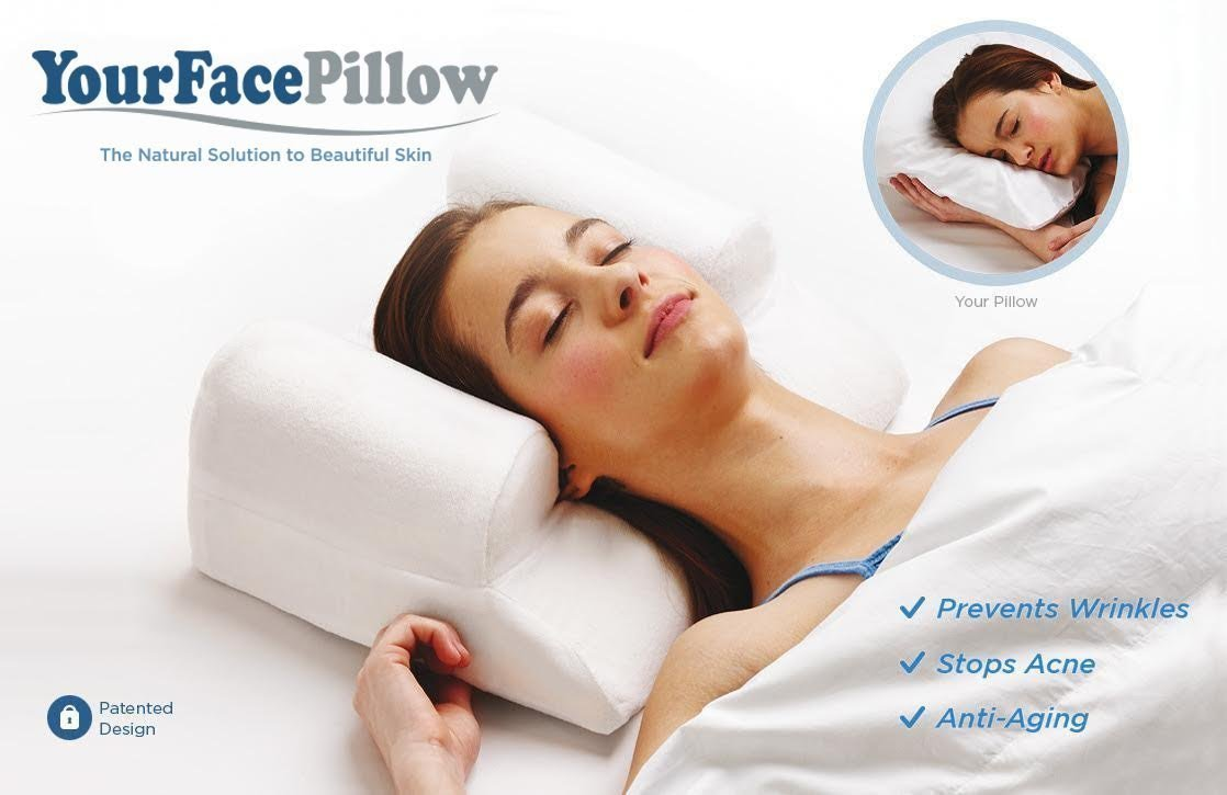 YourFacePillow - Anti Wrinkle   Anti Aging   Wrinkle Prevention   Acne Treatment   Natural Beauty   Back & Side Sleeping Pillow : Beauty