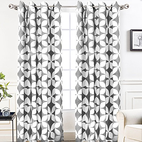 DriftAway Amelia Thermal Blackout/Room Darkening Grommet Unlined Window Curtains, Set of Two Panels, each 61A8U7aZUqL