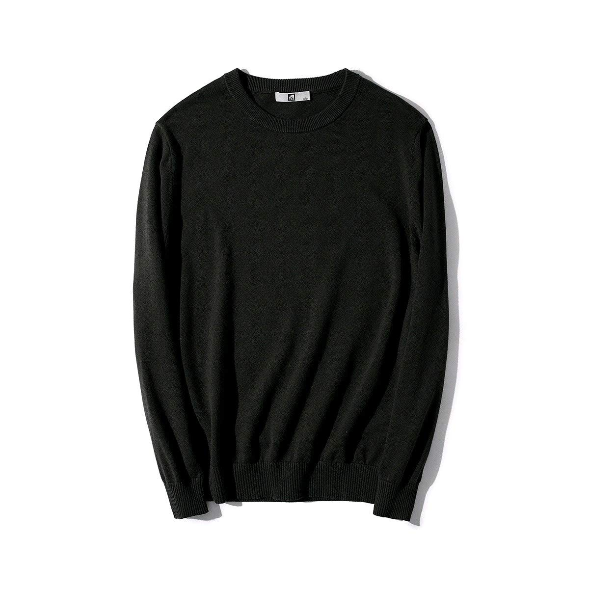 YUNY Mens His and Her Juniors Colortone Knitting Tshirt Sweater Black S