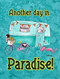 Caroline's Treasures 8758GF Another Day in Paradise Flag, Small, Multicolor For Sale