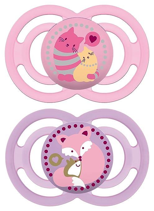 MAM 99953500, Chupete de silicona de 6 a 16 meses, sin BPA, paquete doble, colores surtidos