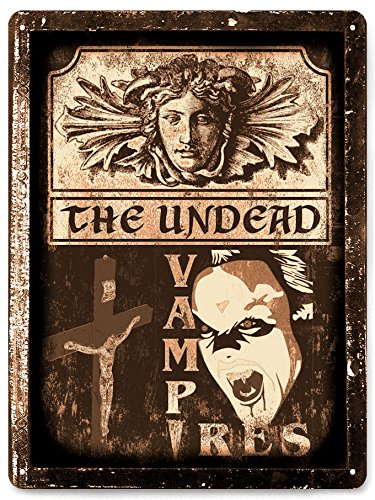 [Vampire dracula horror Movie prop METAL Sign halloween Wall decor / vintage style wall decor 061] (Real Dracula Costume)
