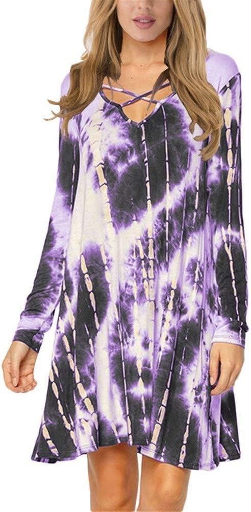 Amazon Com Wedding Tie Dyed Skirt Dress Women Summer Dresses Beautiful Color Purple Size Xxl Home Kitchen